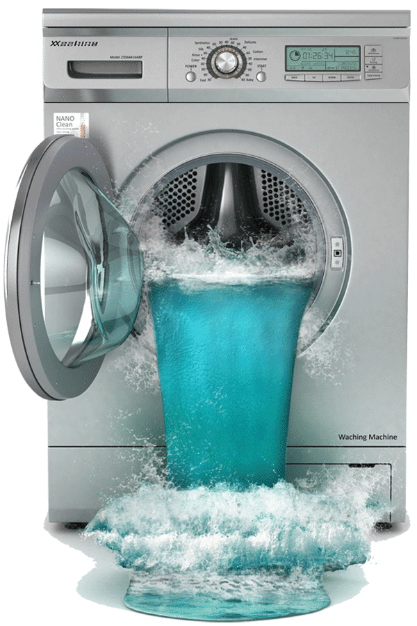 washing machine water cleanup & mitigation in West Bend