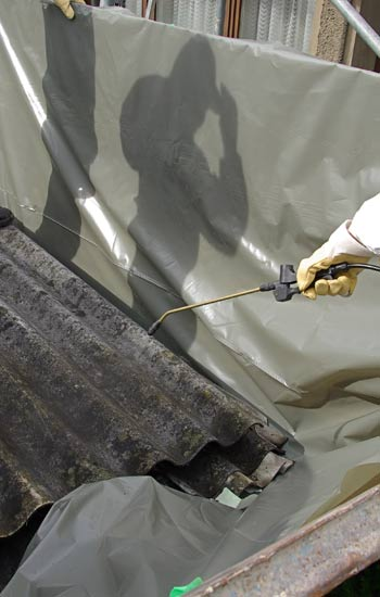 asbestos cleaning and sanitizing